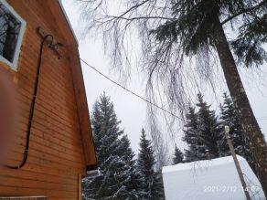 Протяжка кабеля от столба к дому