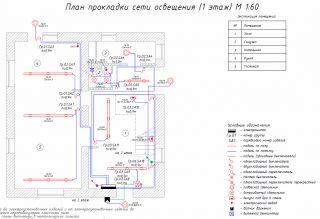 Проект - План сети освещения - Этаж 1