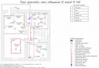 Проект - План сети освещения - Этаж 2