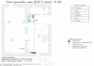 Проект - План сети ДСУП - Этаж 1