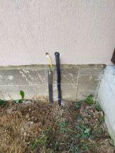 Заведение эл. кабеля и заземления в дом