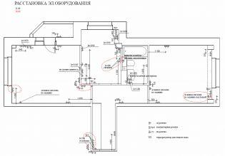 Дизайн-проект - Расстановка эл. оборудования